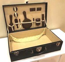 Vtg Womens Ladies Suitcase Built In Toiletry Kit Monogrammed Everlasting Lock