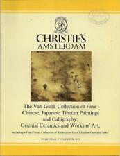 CHRISTIE'S Chinese Painting Ceramics Horn Van Gulik Col
