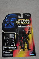 STAR WARS POWER OF THE FORCE DEATH STAR GUNNER W/ RADIATION SUIT & BLASTER MOSC