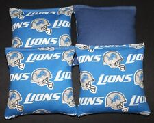 DETROIT LIONS Cornhole Bean Bags Set of 4 ACA Regulation Corn Toss Game Bags
