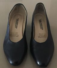 Cumfy Classics HUSH PUPPIES Black Leather Low Heel Pump Shoes Size 9