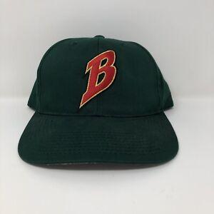 Vintage Buffalo Bisons Snapback Hat Green OSFA Embroidered VTG MiLB