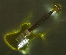 B.C. Rich Gibson-Epiphone Acrylic Mockingbird Transparent Amber Custom wLED Glow