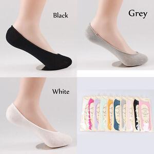 5 Pairs MEN WOMEN No Show FASHION LOW CUT INVISIBLE BOAT SOCKS Heel-Grip SOL0102