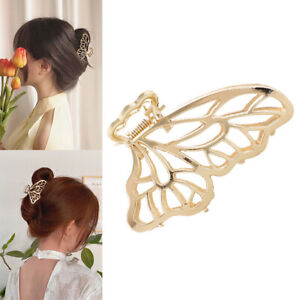 Metal butterfly hair Clip Women's Hairpins And Crab Claw Wedding Accessories1pc