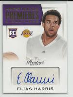 2013-14 Prestige Prestigious Premieres Signatures #20 Elias Harris Auto Lakers