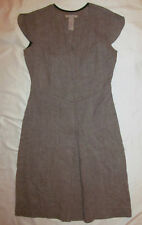 FREE PEOPLE ANTHROPOLOGIE gray taupe wool A line front pleat sleeveless dress 5