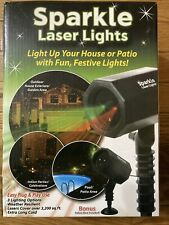 Sparkle Laser Light.  Light up your house or patio with Fun, Festive Lights!