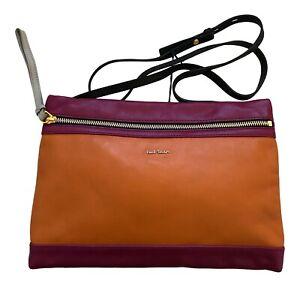 Paul Smith Ladies Zip fasten Multi coloured leather panel Bag