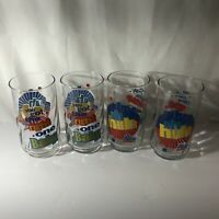 Vtg 4 Diet Pepsi Glass 12 oz You Got the Right One Baby Uh Huh Ray Charles