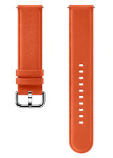 Original SAMSUNG Leather Band 20mm -Orange- For Galaxy Watch models