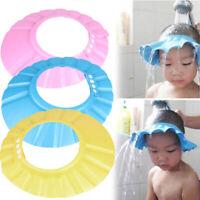Adjustable Baby Child Kids Shampoo Bath Shower Cap Hat Wash Hair Shield  #W