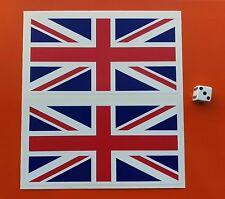 X2 Union Jack flag sticker 150mm   VINYL STICKER Great Britain