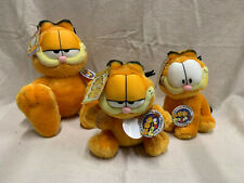 ~ Lot of 3 Aurora GARFIELD Plush Collection - Vintage 1990's Stuffed Animal Toys