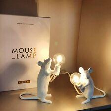 Retro Rat Mini Mouse Table Lamp Desk Bedside Lighting Resin Desk  Lamp Cute