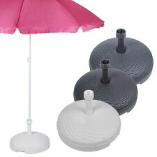 20L Rotin Jardin Chemin Plastique Parasol Base Plage Support Parapluie Été Bâche