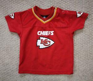 KC Chiefs Reebok NFL Team Apparel Infant Baby Newborn Jersey Shirt Sz 24 Months