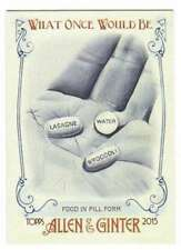 2015 Topps Allen and Ginter What Once Would Be #WOULD-5 Food in pill form
