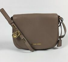 NWT MICHAEL KORS LEATHER LARGE HAMILTON CROSSBODY MESSENGER BAG DARK DUNE NEW