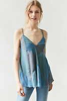 NWT $69 URBAN OUTFITTERS Silence + Noise prism Baby doll blue CAMI SZ XS
