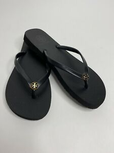 Women's Tory Burch Thin Strap Flat Flip Flop Sandals •Size 6.5-7 *EUC