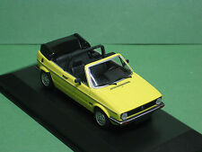 VOLKSWAGEN VW GOLF I CABRIOLET 1980 Jaune MINICHAMPS 1:43 Oldtimer voiture miniature