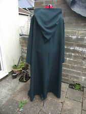 oversized bottle green  hooded cloak with sleeves. more colours cosplay