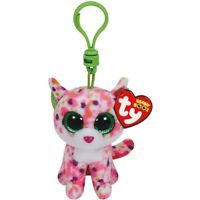 "TY Beanie Boos 3"" Sophie the Cat Plastic Key Clip Plush MWMT's New w/ Heart Tags"