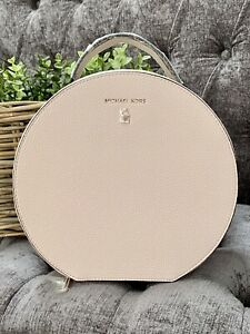 MICHAEL KORS Pale Pink Zipped Vanity Lined Cosmetic / Travel Holder With Mirror