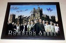 "DOWNTON ABBEY PP CAST X5 SIGNED & FRAMED POSTER 12""X8"" HUGH BONNEVILLE"