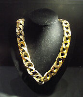 Extra Massive Men's 30 INCH Flat Link Chain Cast in Jewellers Bronze 430g Dipped