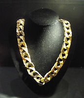 30 INCH Flat Link Chain Cast in Sterling Silver then Dipped in 9 or 18 ct Gold