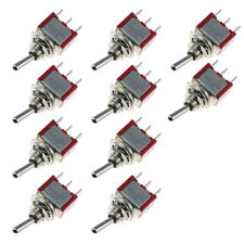 10 x On/Off/On Momentary Mini Toggle Switch Car Motor Dash Dash SPDT 3Pin Sales