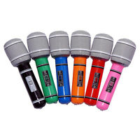 Set of 6 Inflatable PVC Microphone DJ Music Rock Star Party Favors Kids Toys