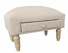 Small Sitting Stool Stool Pattern White Beige stoffhocker Foot Stool Pads