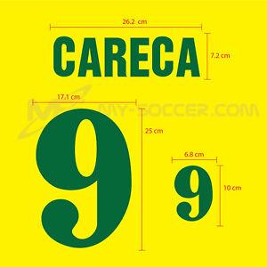 BRAZIL Home 1991-93 FLOCK VELVET NAME NUMBER PRINT EXCELLENT QUALITY