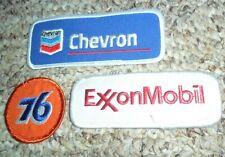 Gas Fuel Oil Patch Lot Of 3 Exxon Mobil 76 Chevron Petrol Vintage Collectibles