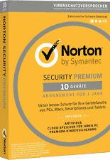 Norton Security Premium | 10 PC / Geräte / 1 Jahr | aktuellste Version 2018