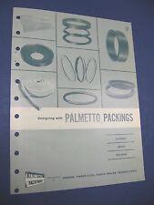 Palmetto Packings 1965 Catalog Green, Tweed Co. Blue Asbestos Dolon