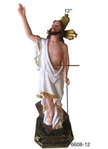"""Jesus Resucitado 12""""  Risen Christ Jesus Resin Statue 6608/12"""