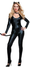 Sexy Halloween Costume Leather Jumpsuit Wild Leopard Cat Catsuit Fancy Cosplay 2