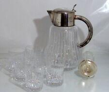 Kalte Ente-Eiszylinder+6 Gläser-Bleikristall-versilbert-Art Deko-HKE=Hans Knäbel