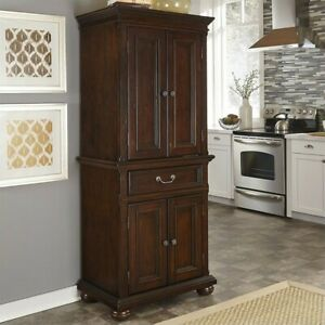 Home Styles Colonial Classic Pantry in Dark Cherry