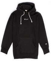Champion Europe Reverse Weave Super Oversize Logo Small Script Hoodie - Black