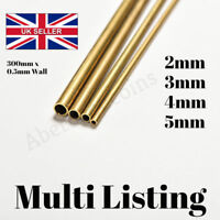 Brass Tube Pipe Model Tubing Round Inner 2mm 3mm 4mm 5mm Long 300mm Wall 0.5mm