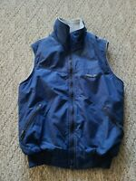 EUC Patagonia Nylon Fleece Lined Full Zip Vest Color Blue Size Small S Hike Ski