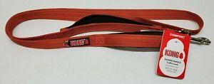 Kong - Comfort Padded Handle Dog Leash - 6 FT - Burnt Orange