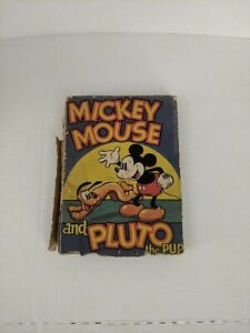 Mickey Mouse and Pluto the Pup HC * rough condition *