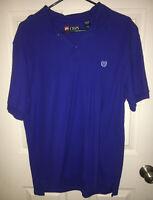 CHAPS Polo Shirt Mens Size L/G Blue Short Sleeve 100% Cotton