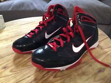 nike hyperize black red size 11.5 sneaker patent leather 367173-012